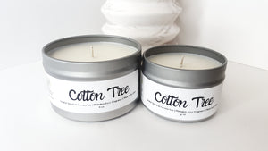 Cotton Tree Scented Natural Soy Candle | Hand-Poured and Hand-Crafted
