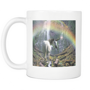 Unicorn with Rainbow double sided 11 ounce coffee mug