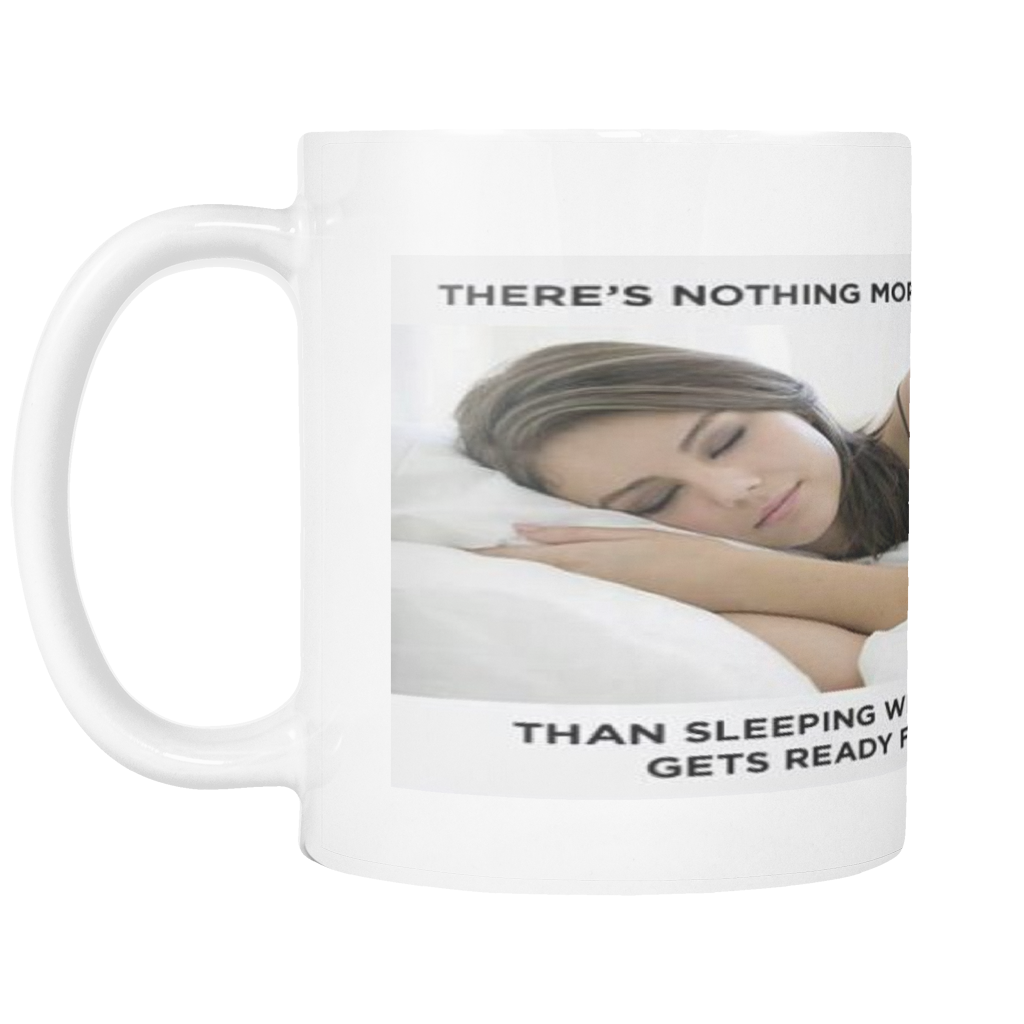 SLEEPING AND WORK MEME 11 OUNCE COFFEE MUG