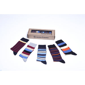 Men's 5-Pair Cool Striped Socks