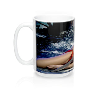 Sword Warrior Girl  Mug 15oz