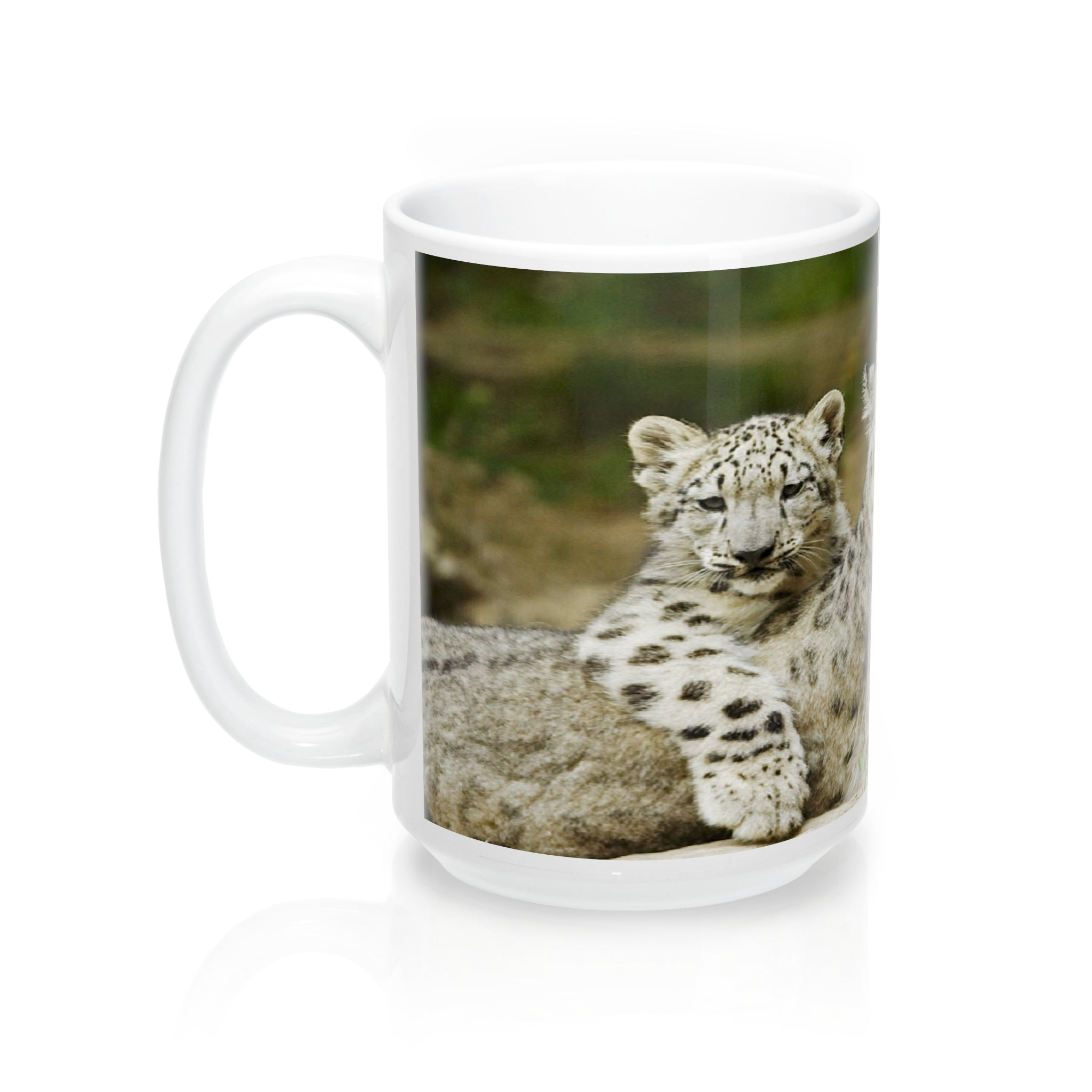Snow Leopard Family  Mugs