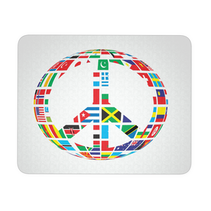 GLOBAL PEACE SIGN MOUSEPAD