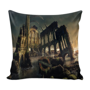 Dark Gothic City Pillow Cover