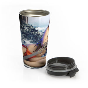 Sword Warrior Girl Stainless Steel Travel Mug