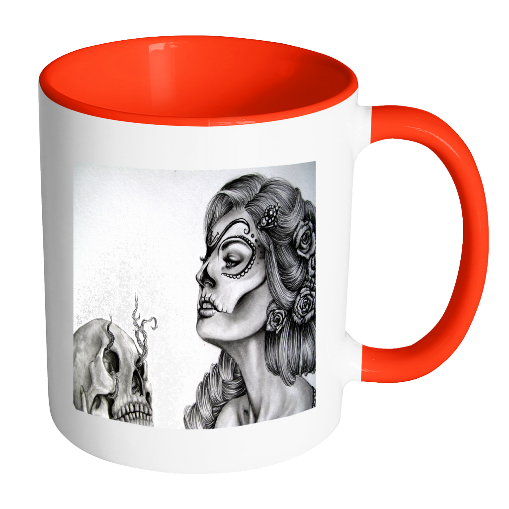 Skull art fantasy 11 ounce accent coffee mug