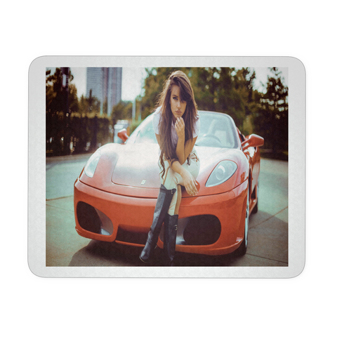 SEXY WOMAN ON CAR MOUSEPAD