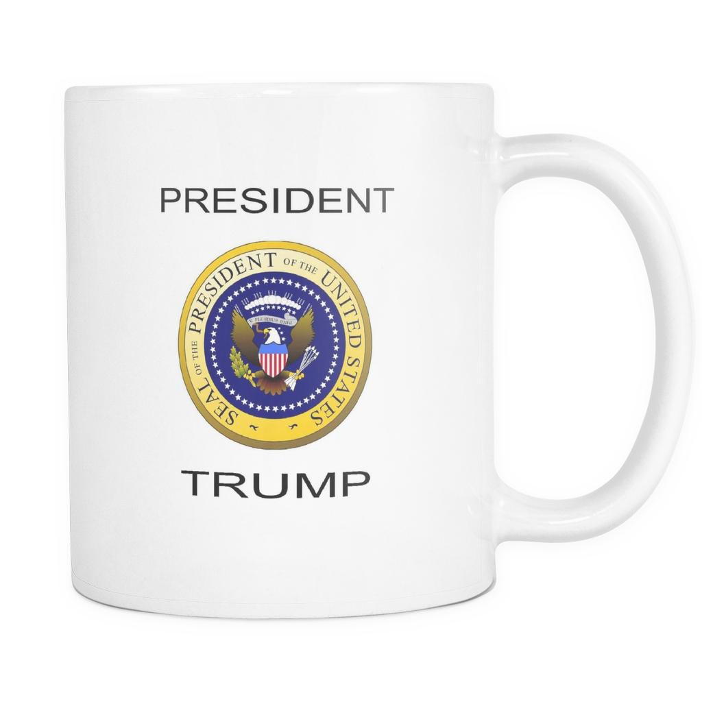 PRESIDENT TRUMP 11 OUNCE DOUBLE SIDED COFFEE MUG