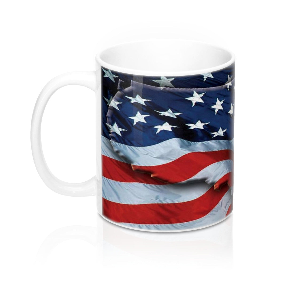 American Freedom Flag and Eagle Wraparound Mug 11oz