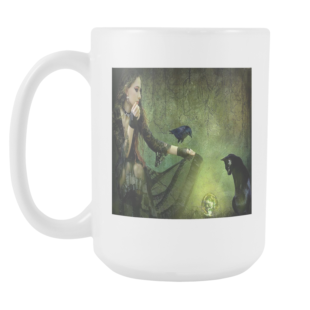 MAGIC MOMENT 15 OUNCE DOUBLE SIDED COFFEE MUG