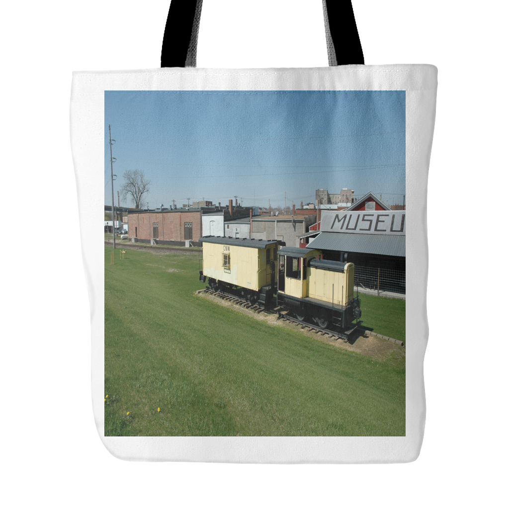 YELLOW TRAIN TOTE BAG