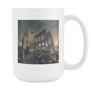 Dark Gothic City double sided 15 ounce coffee mug