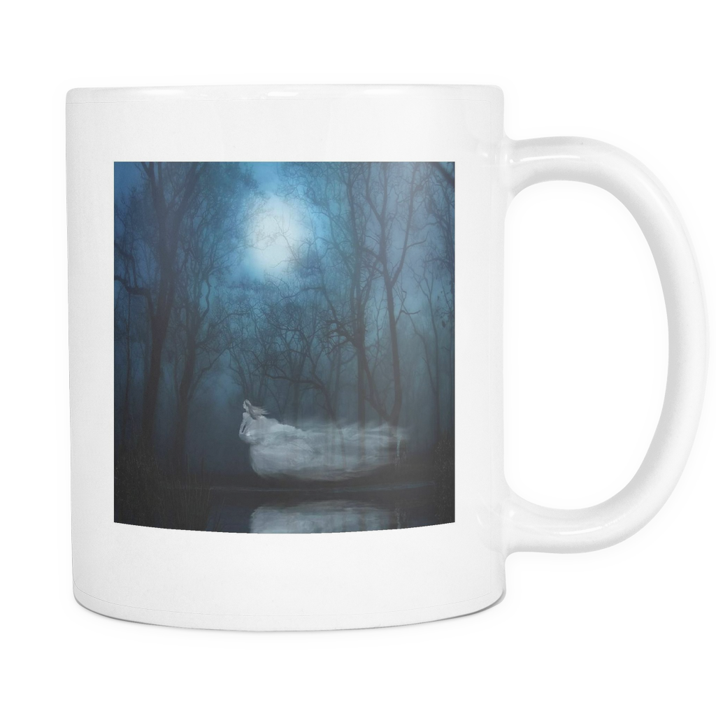Ghost Fantasy Woman double sided 11 ounce coffee mug