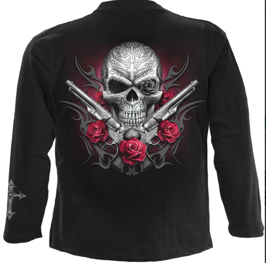Spiral Direct death pistol gothic mens long sleeve graphic t shirt new