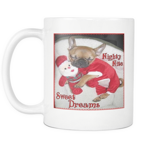 Christmas Sweet Dreams Dog on 11 ounce coffee mug
