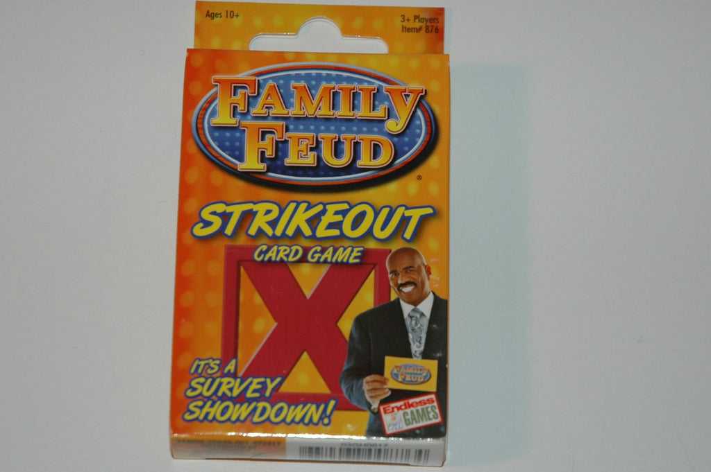 New Family Feud Strikeout Card Game 3+ Players 102 SURVEY CARDS
