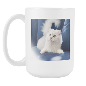 James Bond Cat double sided 15 ounce coffee mug