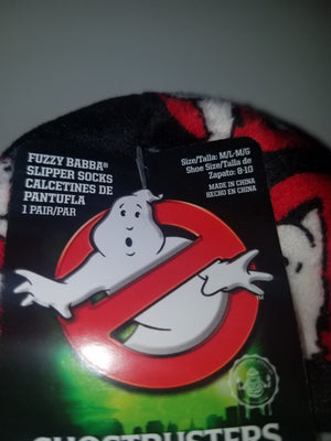 Ghostbusters fuzzy babba womens slipper socks new with tags