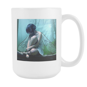 Butterfly fantasy 15 ounce double sided coffee mug