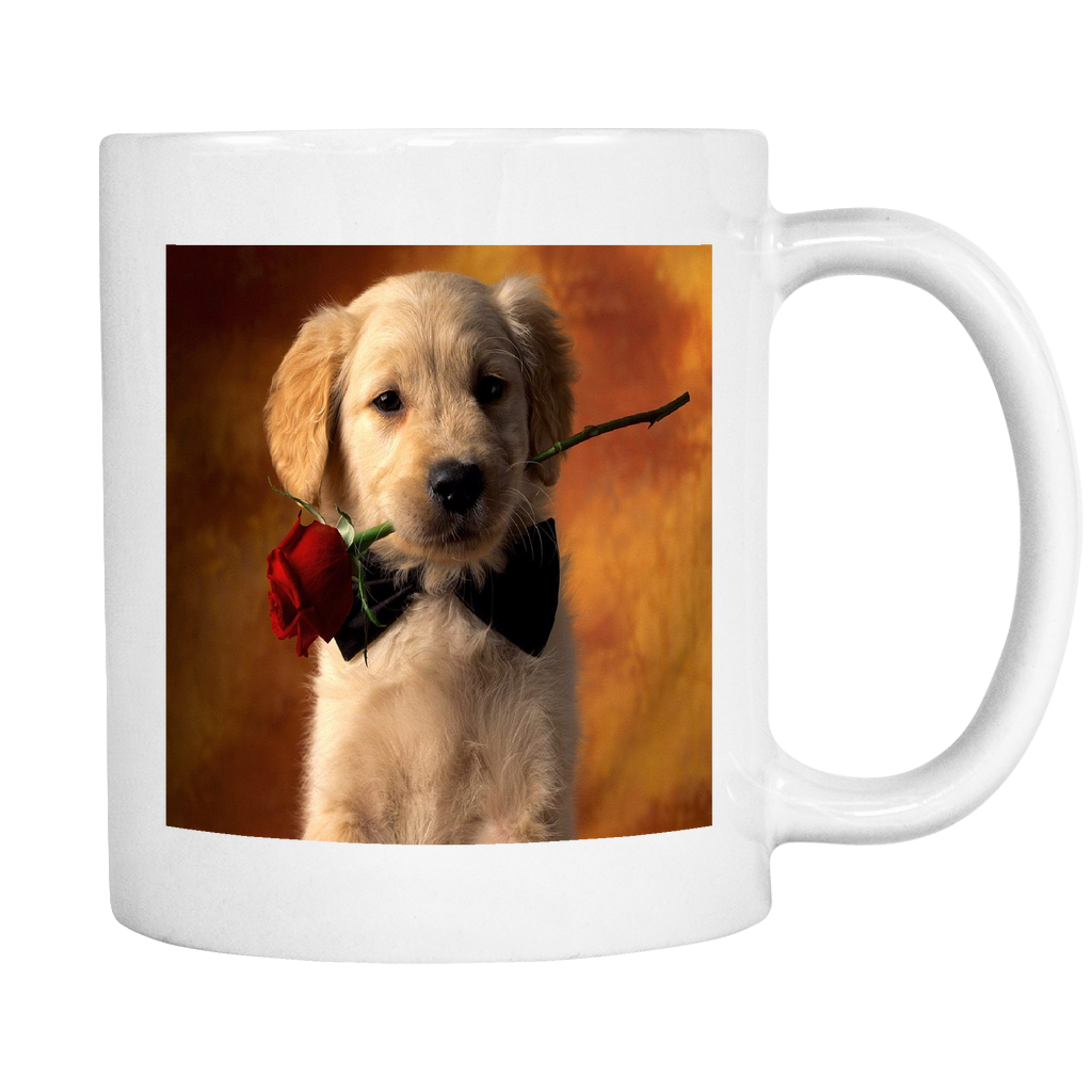 Puppy Love double sided 11 ounce coffee mug
