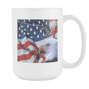 American Freedom Flag and Eagle double sided 15 ounce mug