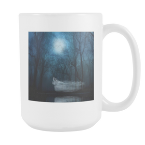 Ghost Fantasy Woman Double Sided 15 ounce coffee mug