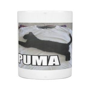 CAT MEME PUMA ON 11 OUNCE COFFEE MUG