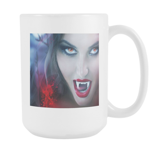 Vampire smile 15 ounce double sided coffee mug