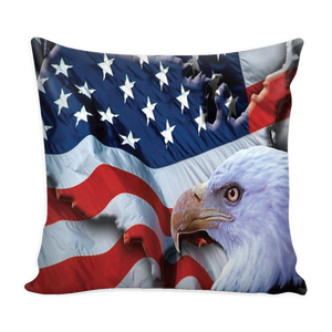 American Freedom Flag and Eagle pillow cover