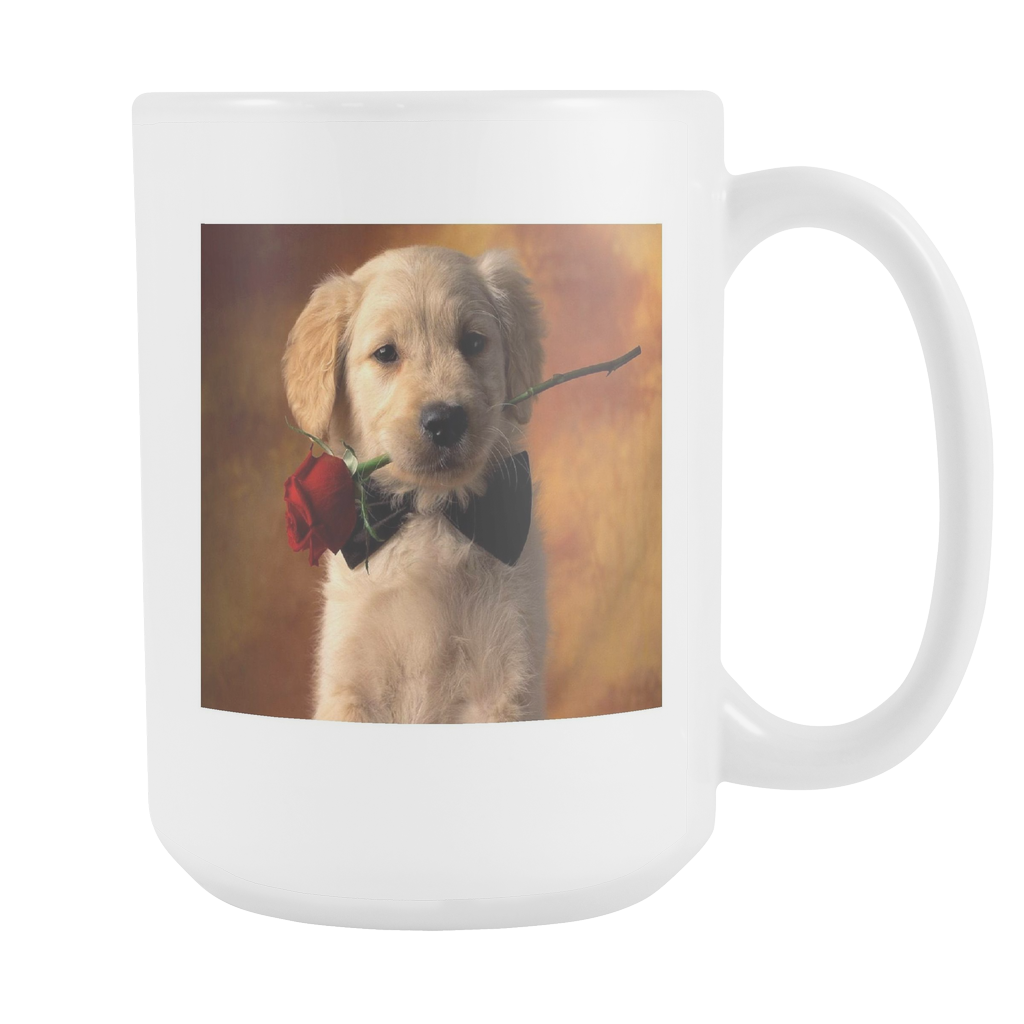 Puppy Love double sided 15 ounce coffee mug