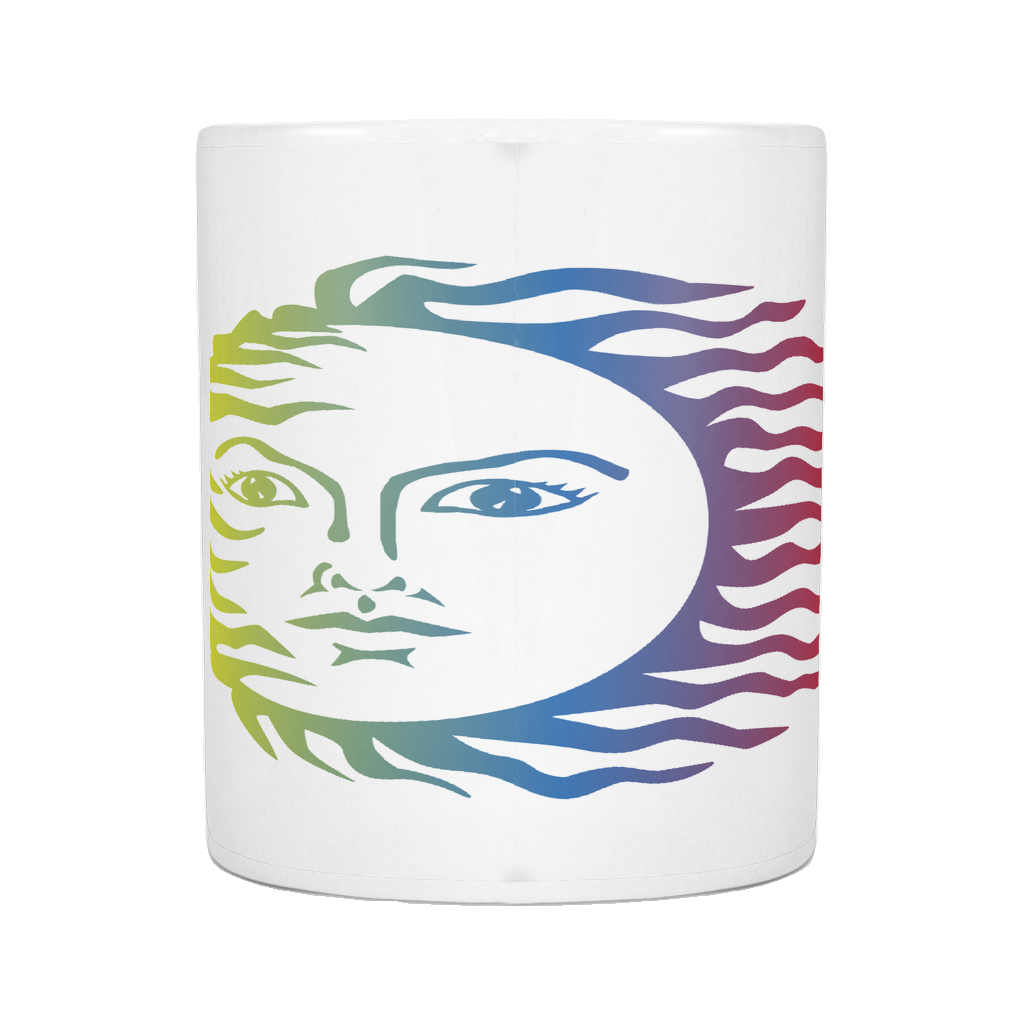 SUN FACE WITH COLOR ON 11 OUNCE COFFEE MUG