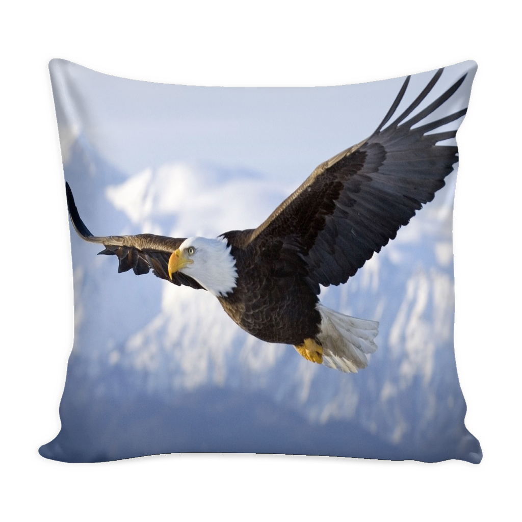 Graceful Eagle flight pillow cover