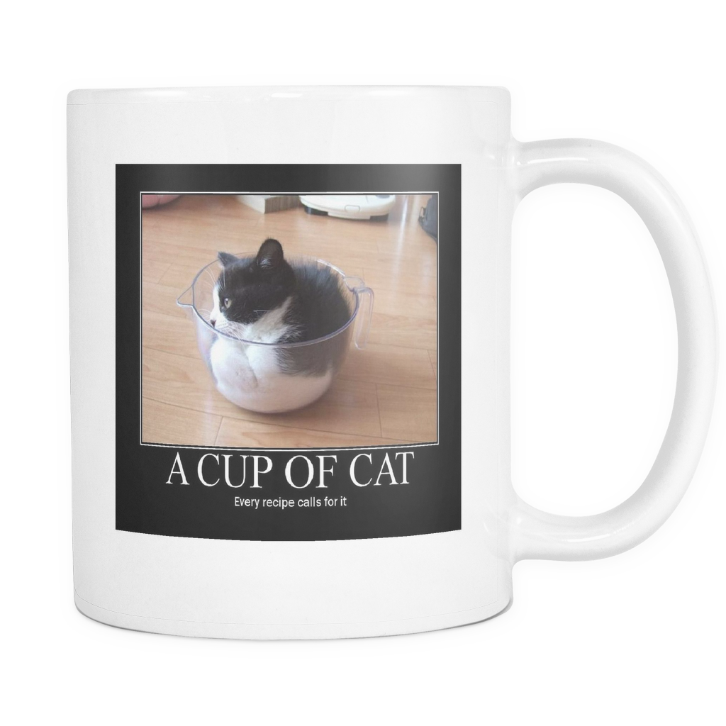 Cup of Cat meme doubled sided 11 ounce coffee mug