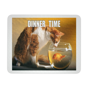 CAT DINNER TIME MEME MOUSEPAD