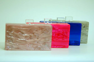 Mother of Pearl Acrylic Box Clutch