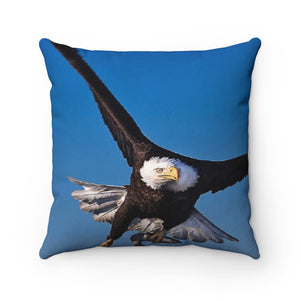 Eagle Wings Spun Polyester Square Pillow