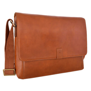 Aiden Leather Business Laptop Messenger Cross Body Bag