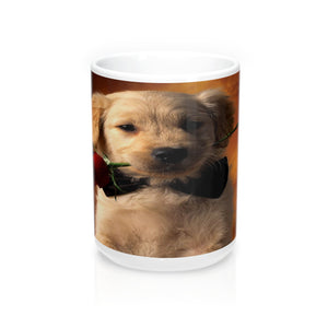 Puppy Love cute roses Mugs