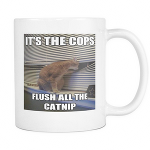 CATNIP CAT MEME 11 OUNCE DOUBLE SIDE COFFEE MUG
