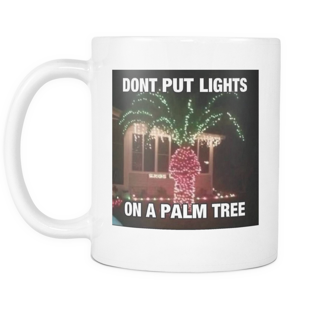 Palm Tree adult meme 11 ounce coffee mug double sided