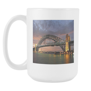 SYdney Harbour Bridge New South Wales double sided 15 ounce coffee mug