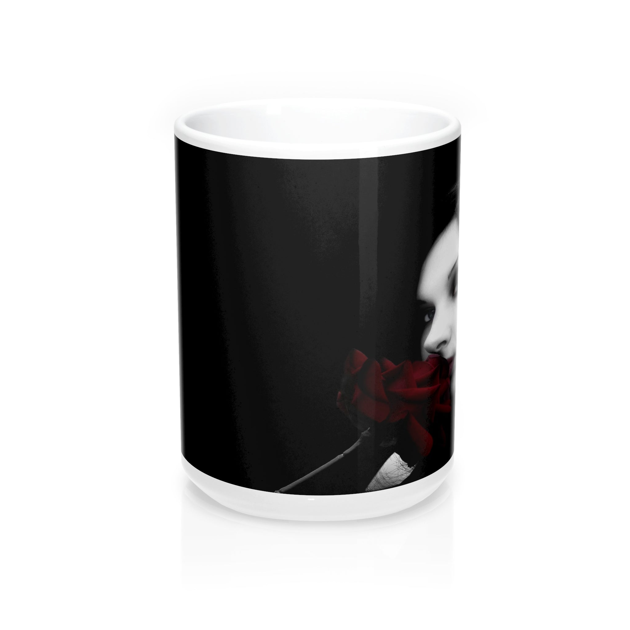 Gothic Beauty Kisses Rose wraparound Mugs