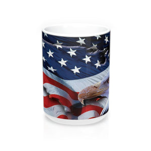 American Freedom Flag and Eagle Wraparound  Mug 15oz