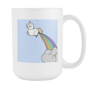 Unicorn Rainbows Funny double sided 15 ounce coffee mug