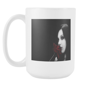 Gothic beauty kisses roses double sided 15 ounce coffee mug