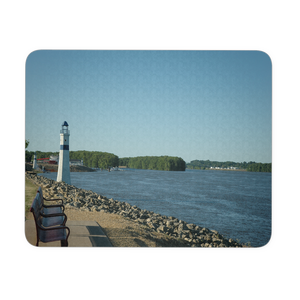RIVERFRONT LIGHTHOUSE MOUSEPAD