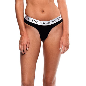Signature Thong Black - Silver
