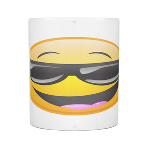 COOL AWESOME SMILEY ON 11 OUNCE COFFEE MUG