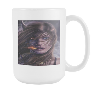 DRAGON WOMAN FANTASY  15 OUNCE COFFEE MUG