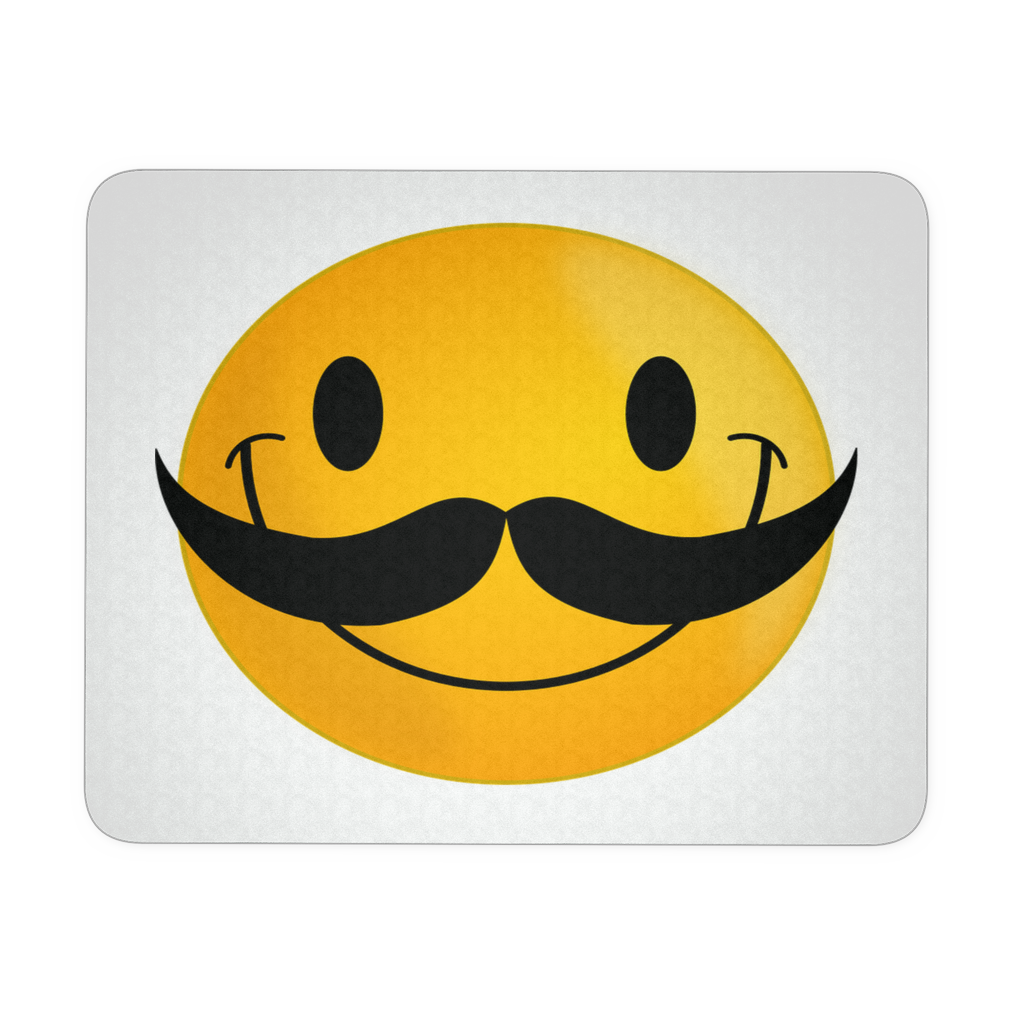 MUSTACHE SMILEY FUNNY MOUSEPAD